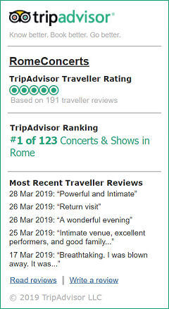 Extracts from TripAdvisor reviews